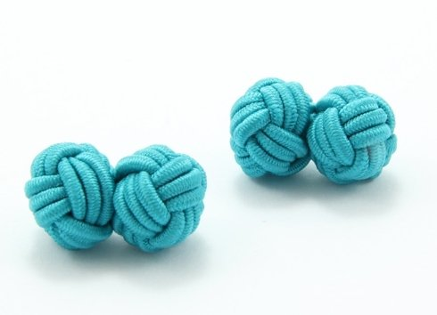 silk knots turquoise