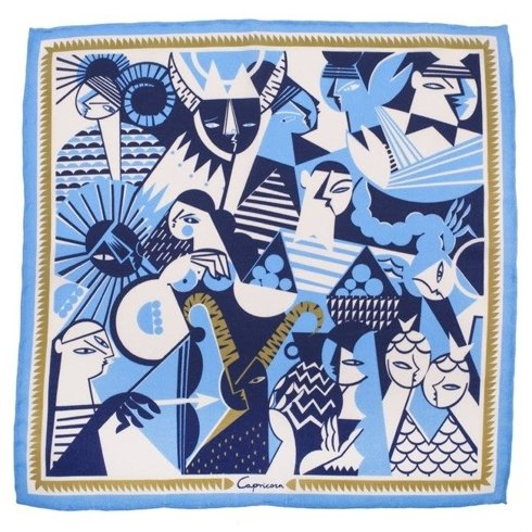 silk pocket square zodiac Capricorn