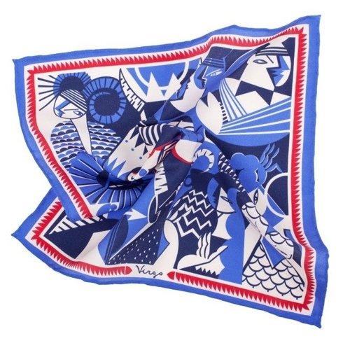 silk pocket square zodiac Virgo