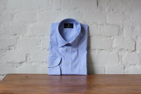 sky- blue Prince of Wales shirt
