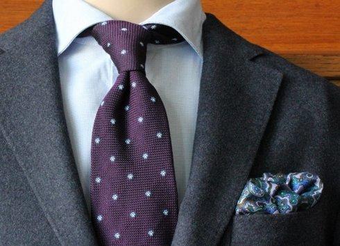 violet grenadine tie