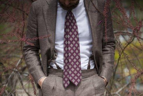 wool-linen trousers 'Garda'