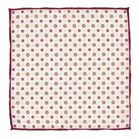 woolen burgundy flowers pocket square