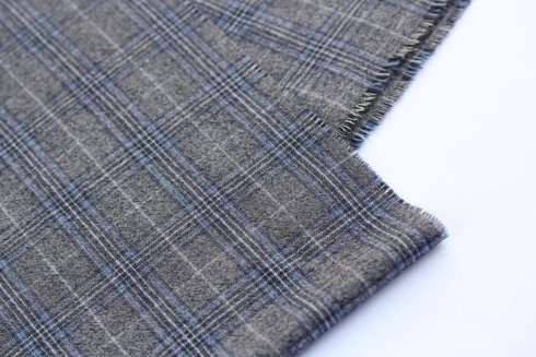 woolen-cashmere scarf with check