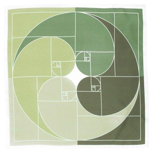 Apaszka Jedwabna spirala Fibonacciego 45 cm