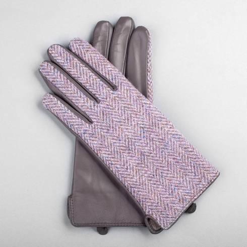 Damskie ocieplane rękawiczki z harris tweedu