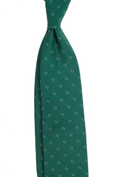 KRAWAT z jedwabiu żakardowego zielony