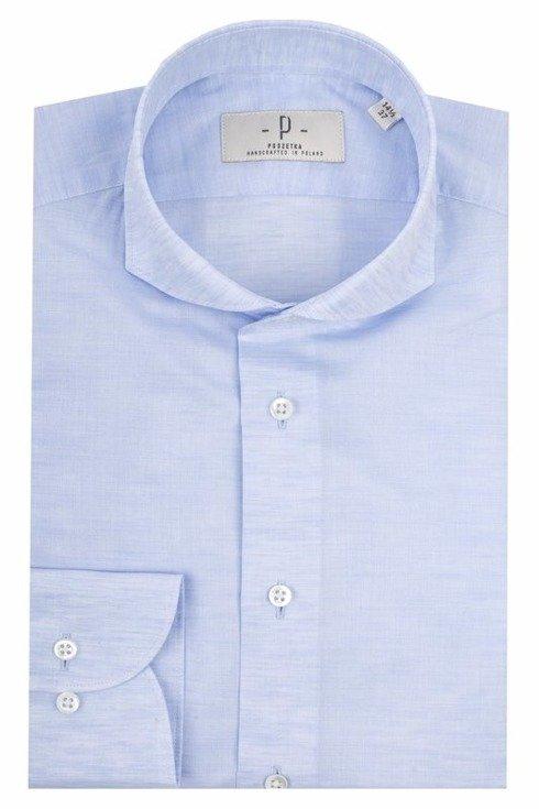 Koszula lniano- bawełniana błękitna