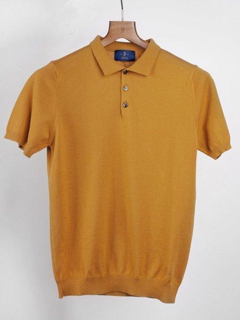Koszulka Polo - musztardowa