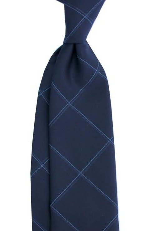 Krawat wełniany w szeroką kratę