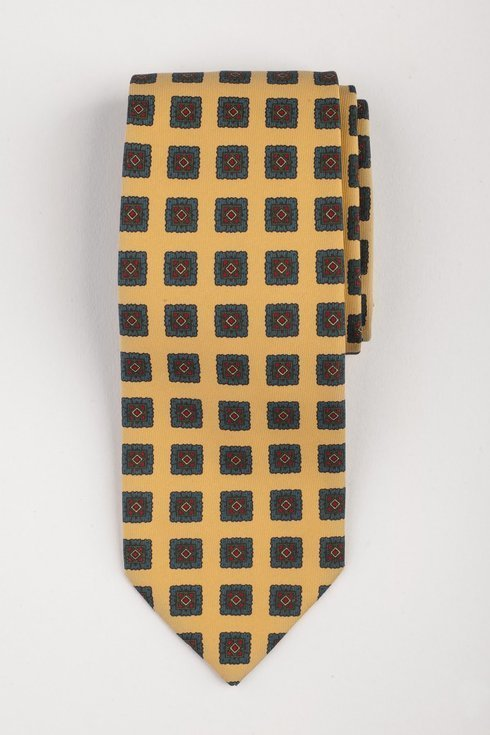 Krawat z jedwabiu Macclesfield żółty