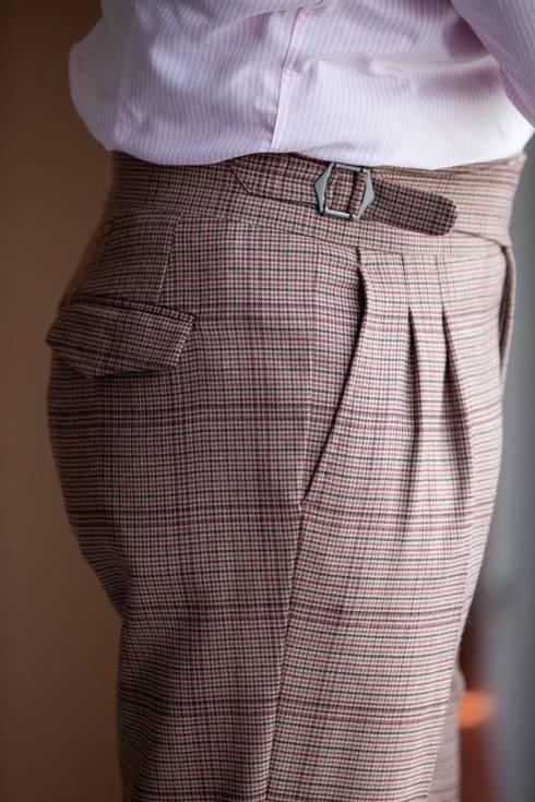 """Preorder: Spodnie """"Alfred"""" gurkha w pepitkę"""