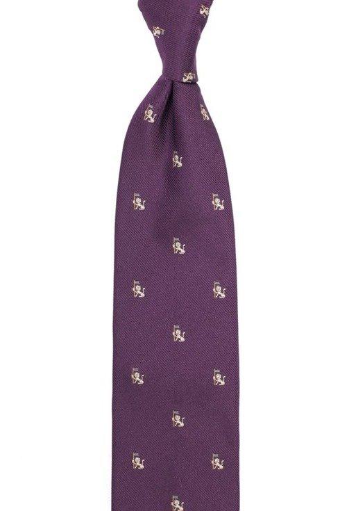 jedwabny fioletowy krawat