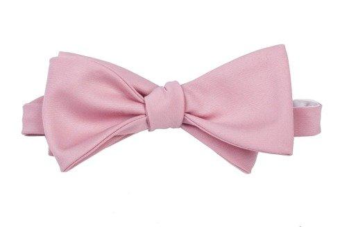 różowa mucha z wełny kostiumowej