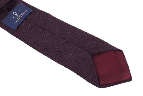 Bordowy Nakrapiany wełniany krawat