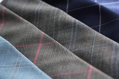 Krawat wełniany BEZ PODSZEWKI w szeroką kratę