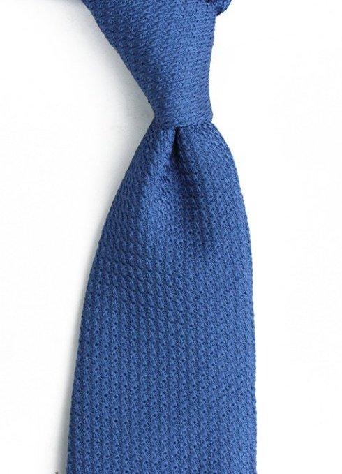 Niebieski KRAWAT z grenadyny (garza grossa)