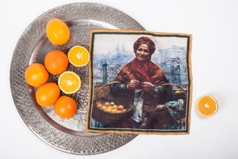 """Obrazy mistrzów """"Żydówka z pomarańczami"""""""