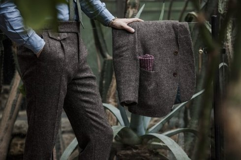 Preorder: Garnitur z niebarwionego tweedu