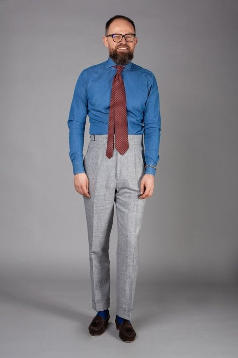 """Preorder: Spodnie lniane szare """"John"""""""