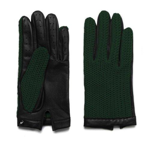 Zielone rękawiczki bez podszewki z technologią touchscreen